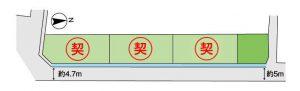 大和高田市曽大根分譲地区画図