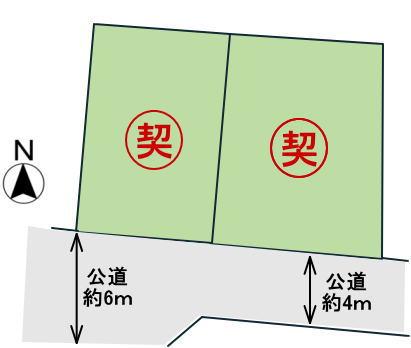 香芝市良福寺 区画図