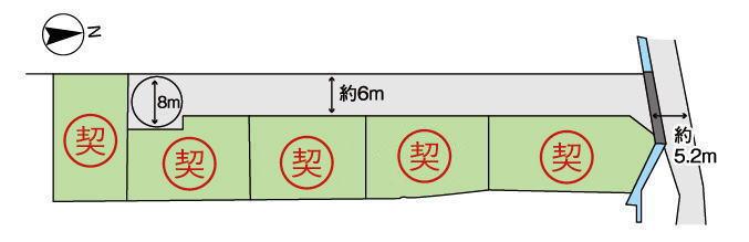大和高田市勝目 区画図