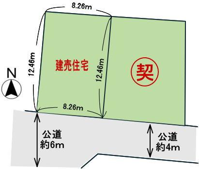 奈良県香芝市良福寺 建売 区画図