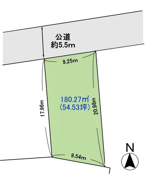 奈良県香芝市の分譲地