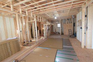床暖房の施工